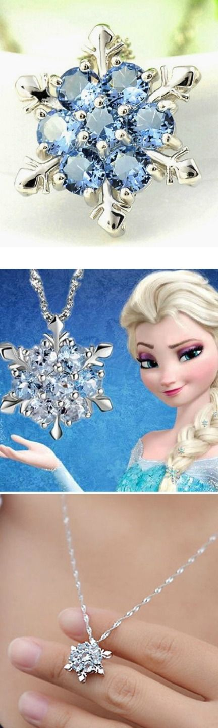 Frozen Snowflake Crystal Silver Plated Necklace! Click The Image To Buy It Now or Tag Someone You Want To Buy This For.  #Frozen