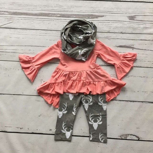 Pink & Gray Deer Outfit
