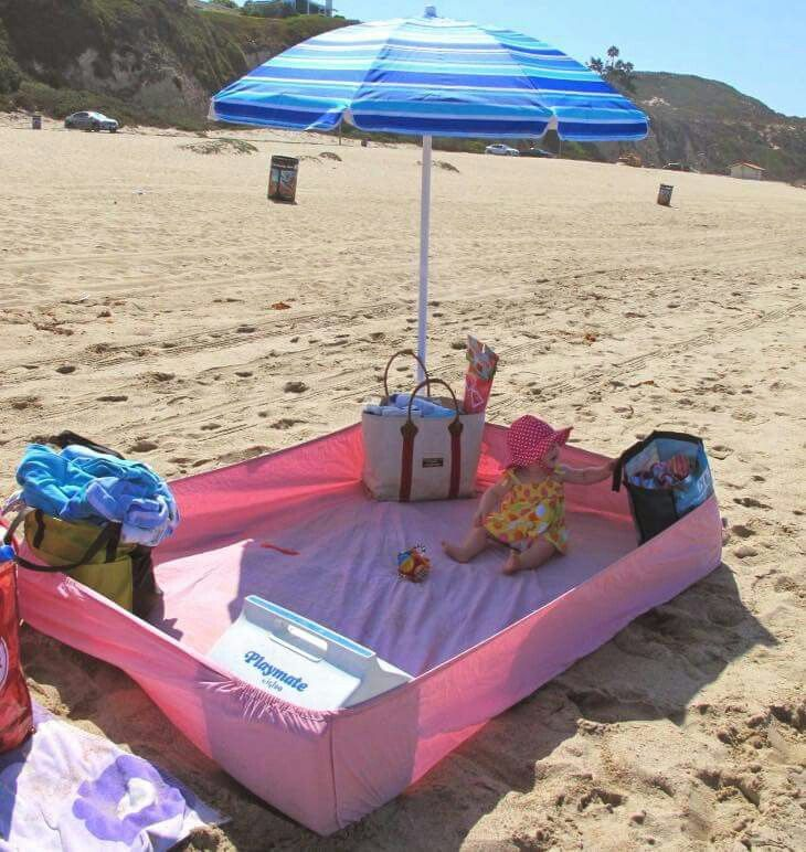 Use a fitted sheet to keep the sand out at the beach