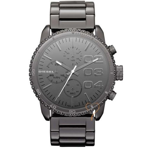 Ρολόι Diesel MirrorFinish Chrono Total Black Stainless Steel Bracelet - BeMine.gr