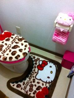 I Already Have A Hello Kitty Bathroom And I Neeed It To Be Mixed With  Leopard Hahu0027