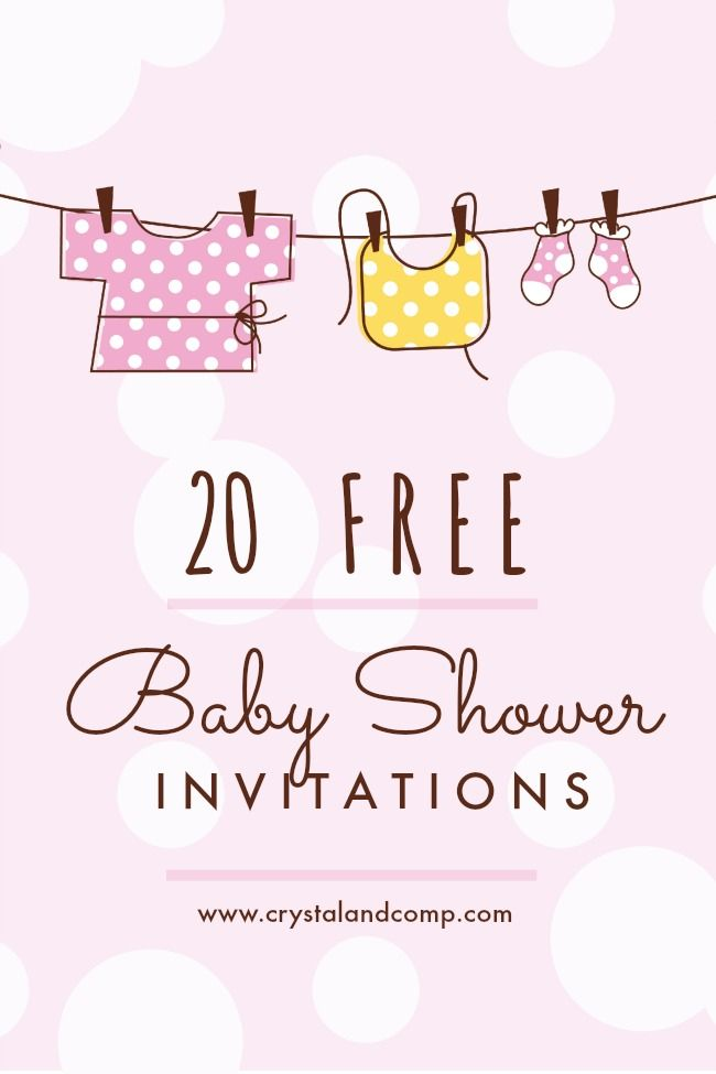 20 Free Baby Shower Invitation Printables