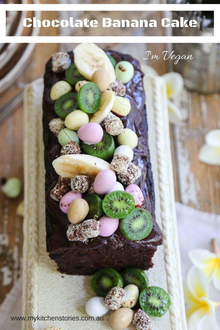 Chocolate Banana Cake Extra Moist, Vegan