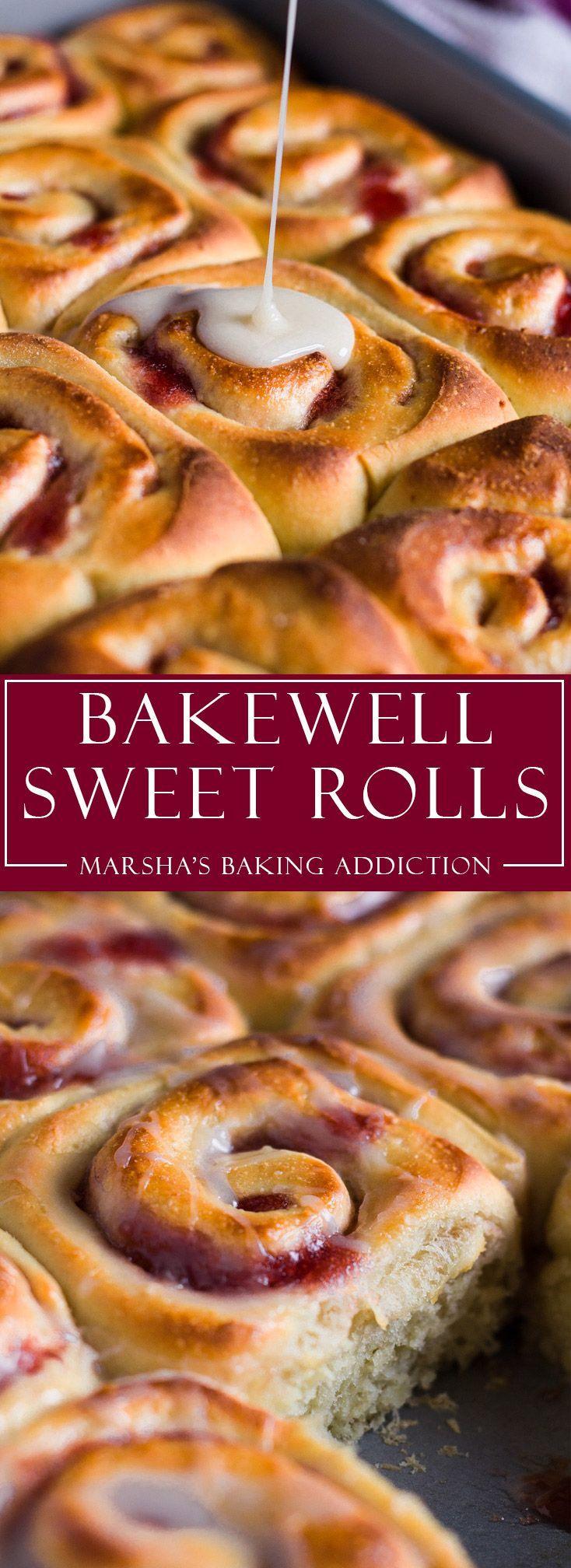 Bakewell Sweet Rolls | http://marshasbakingaddiction.com /marshasbakeblog/