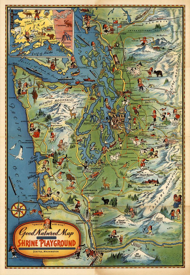 Best New Old Photos Images On Pinterest Original Art Vintage - Us map old time