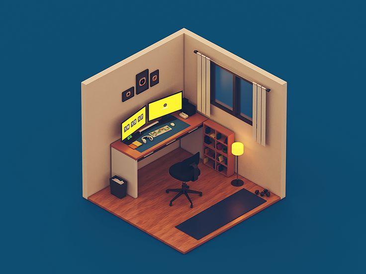 Tiny Room One Isometric Design