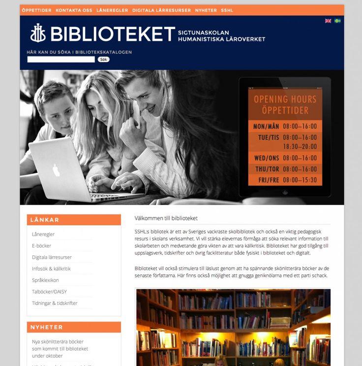 Website SSHL Biblioteket