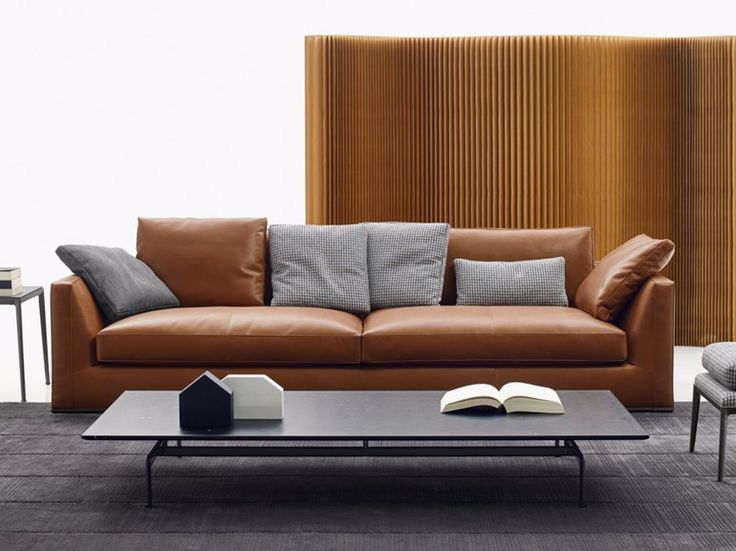 3 seater leather sofa Richard Collection by B