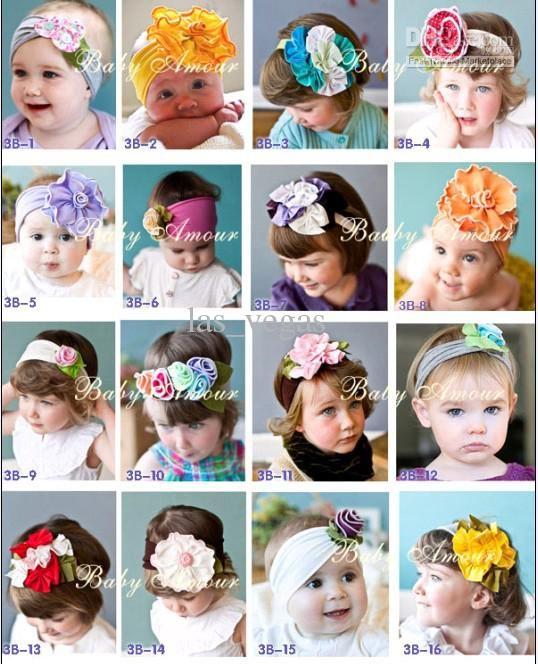 NEW Baby Amour headband Girls headbands Infant headwear baby Fashion flower Hair Accessories ty