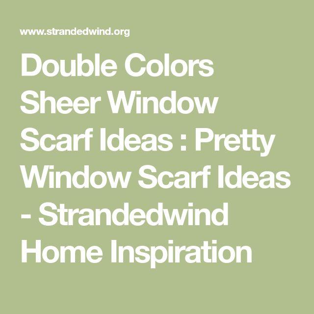 Best 25+ Window scarf ideas on Pinterest
