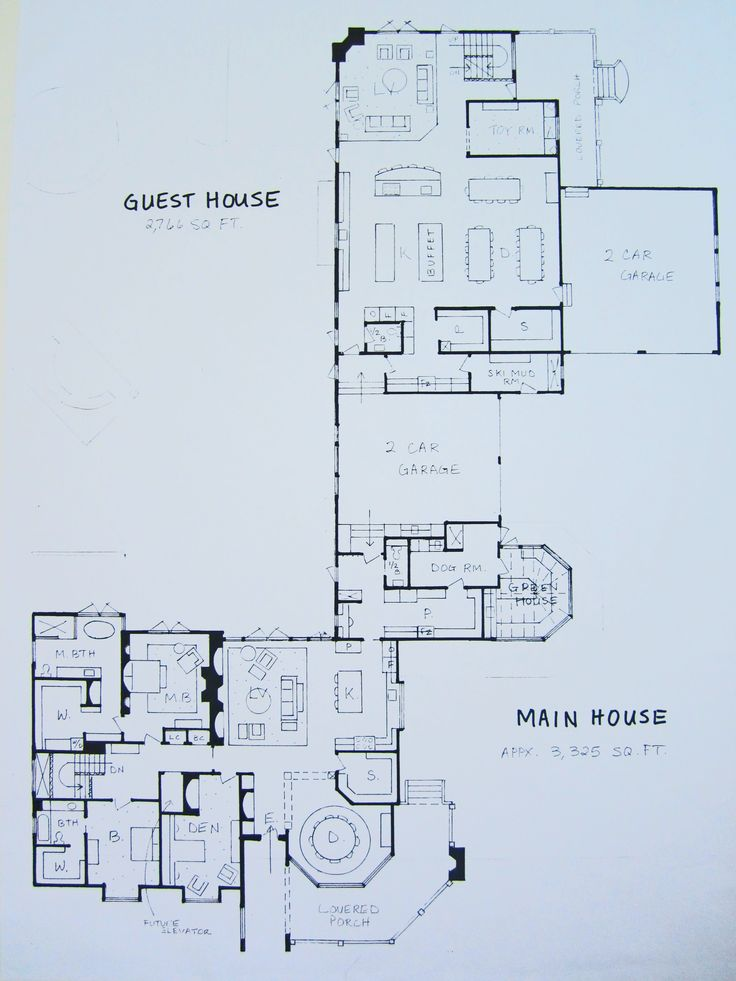 24 best Multigenerational Homes images – Floor Plans With Attached Guest House