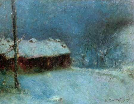 Carlo Carra Paesaggio sotto la neve