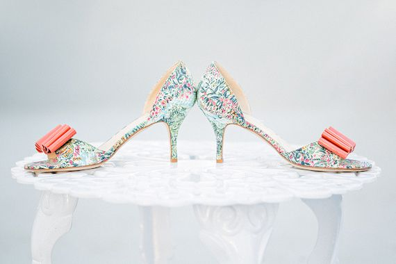 Pair these floral Butter shoes with a soft tulle ballgown or tea length wedding dress! | photos by Apryl Ann | 100 Layer Cake