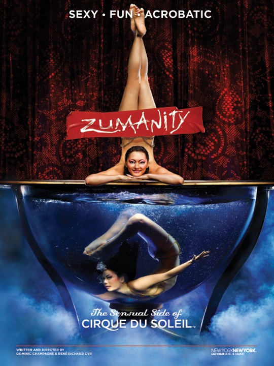 The water in this famous act is kept at a consistent 99º F to help with the performers' flexibility. #Zumanity #Cirque
