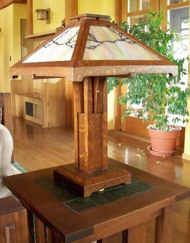 371 best images about mission style lamps on pinterest for Frank lloyd wright craftsman style