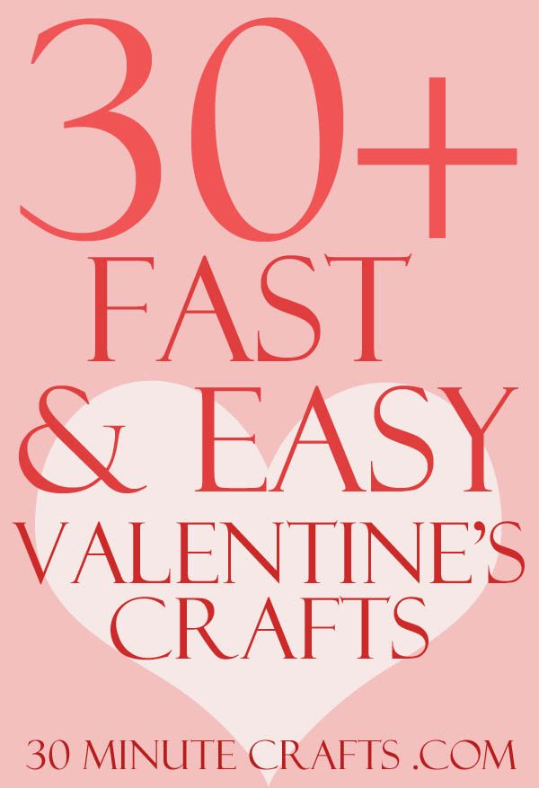Fast Easy Hairstyles For Long Hair: Fast And Easy Valentine's Day Crafts
