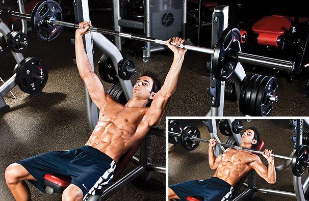 incline barbell bench press, workout program, workout split, workout plan, workout plans, workout programs, workout programs for men, workout programs for women, workout program to build muscle, workout program to burn fat