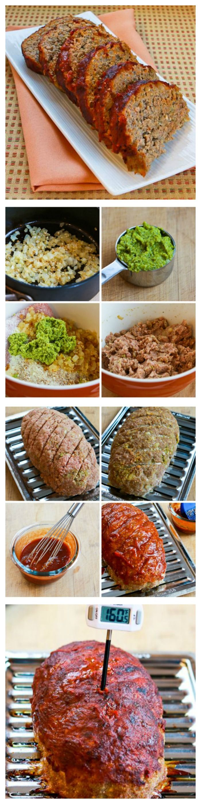 Turkey Pesto Meatloaf with Tomato Sauce. If you like pesto, this ...