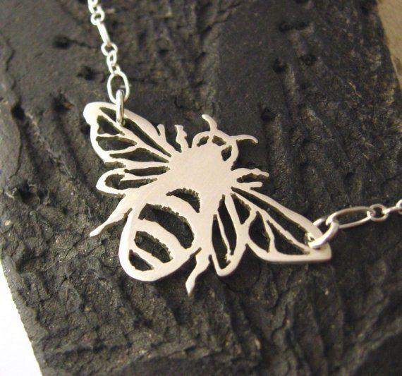SALE  Apis mellifera   Honey bee sterling silver by wearthou, $62.00
