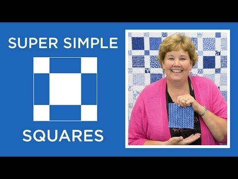 Make a Super Simple Squares Quilt with Jenny                                                                                                                                                                                 More