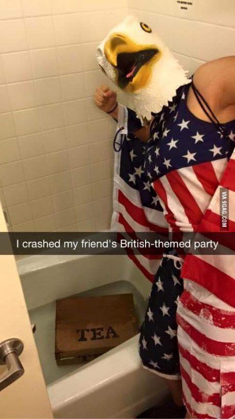 Crashing British parties since 1776