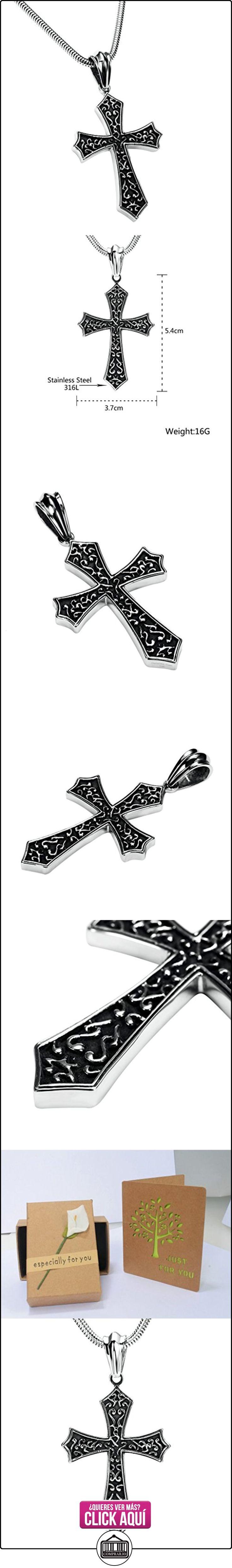 Daesar Joyería Collares de Hombre Acero Inoxidable Cruz Colgantes Vintage Patrón Plata Colgantes Vintage 3.7X5.4cm  ✿ Joyas para niños - Regalos ✿ ▬► Ver oferta: https://comprar.io/goto/B01MYO1RGX