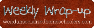 Weekly Wrap-Up: The One Where the Toad ReturnsBlog Linkup, Blog Link Up, Teachinghomeschool Blog, Homeschool Families, Favorite Bloggers, Homeschool Ideas, Weeks Wrapup, Unsoci Homeschool, Teaching Homeschool Blog