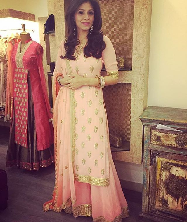 Bhumika Grover modelling her own creation .. We love it! #designer
