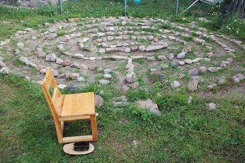 Simple stone/sand labyrinth