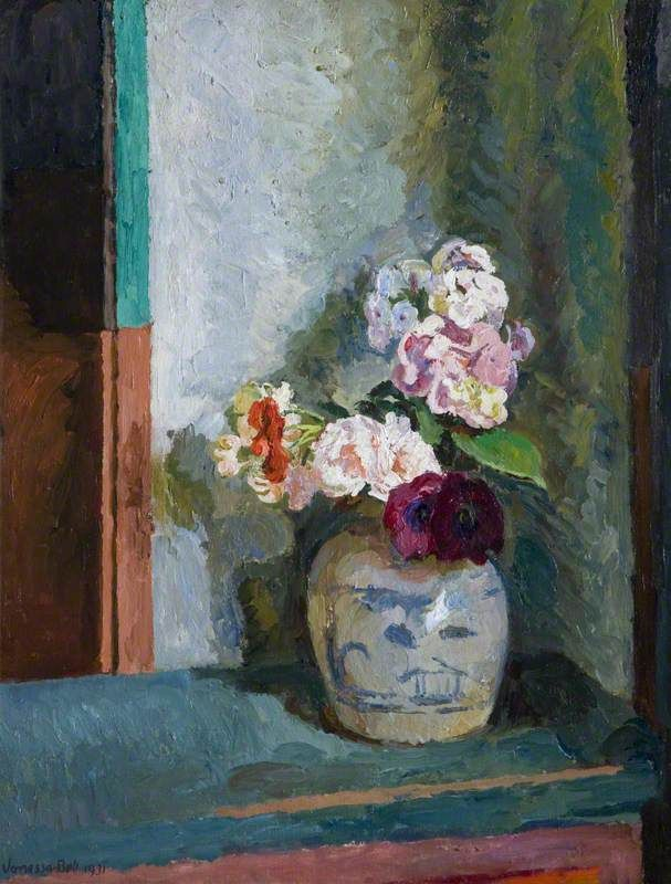 vanessa bell(1879–1961), flowers in a ginger jar, 1931. oil on canvas, 61.7 x 51.1 cm. national museums northern ireland, northern ireland http://www.bbc.co.uk/arts/yourpaintings/paintings/flowers-in-a-ginger-jar-121647