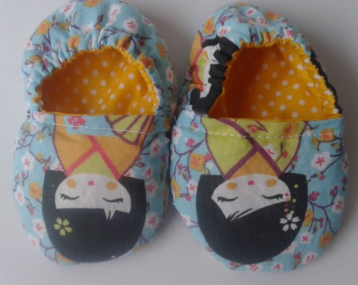 Shoes, baby booties, baby girls sleepers with kikoshi pattern, EGST, European street team, ready to ship, ideal baby shower gift, new mum by Pitsiriki on Etsy