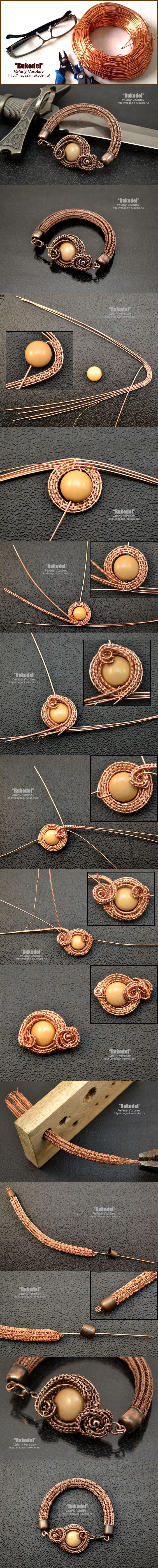 Браслет из проволоки. Wire Wrapped Bracelet Viking Knit. | Рукодел