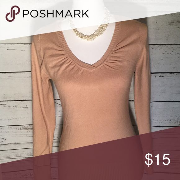 Long sleeve camel shirt by takeoui Pretty long sleeve shirt in camel takeoui Tops