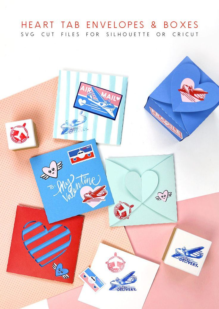 Diy Heart Tab Envelopes And Boxes Holidays Valentines Day