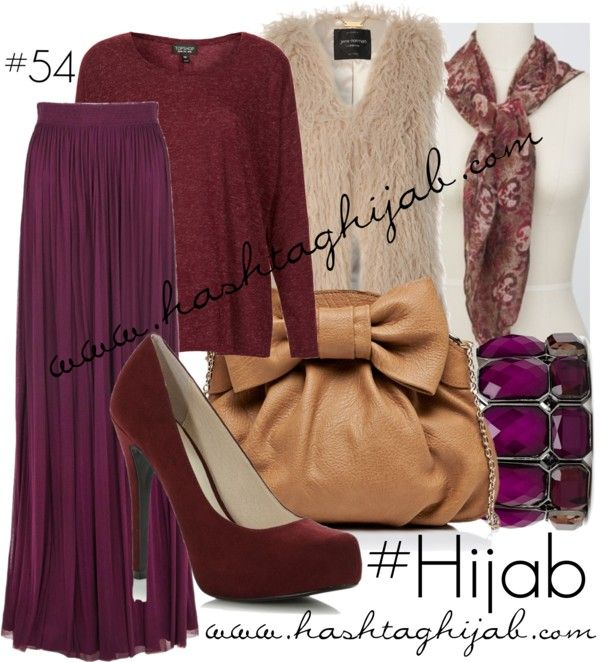 Hashtag Hijab Outfit #54 by hashtaghijab featuring a gathered maxi skirtTopshop red shirt€11 - topshop.comJane Norman cream faux fur vest€37 - janenorman.co.ukAmanda Wakeley gathered maxi skirt€610 - amandawakeley.comFaith wine pump€18 - debenhams.comForever New bow bag€24 - forevernew.com.au2b bebe buckle bangle€7,30 - 2bstores.comRoyal Affair Scarf Hijab Louvrehijablouvre.com