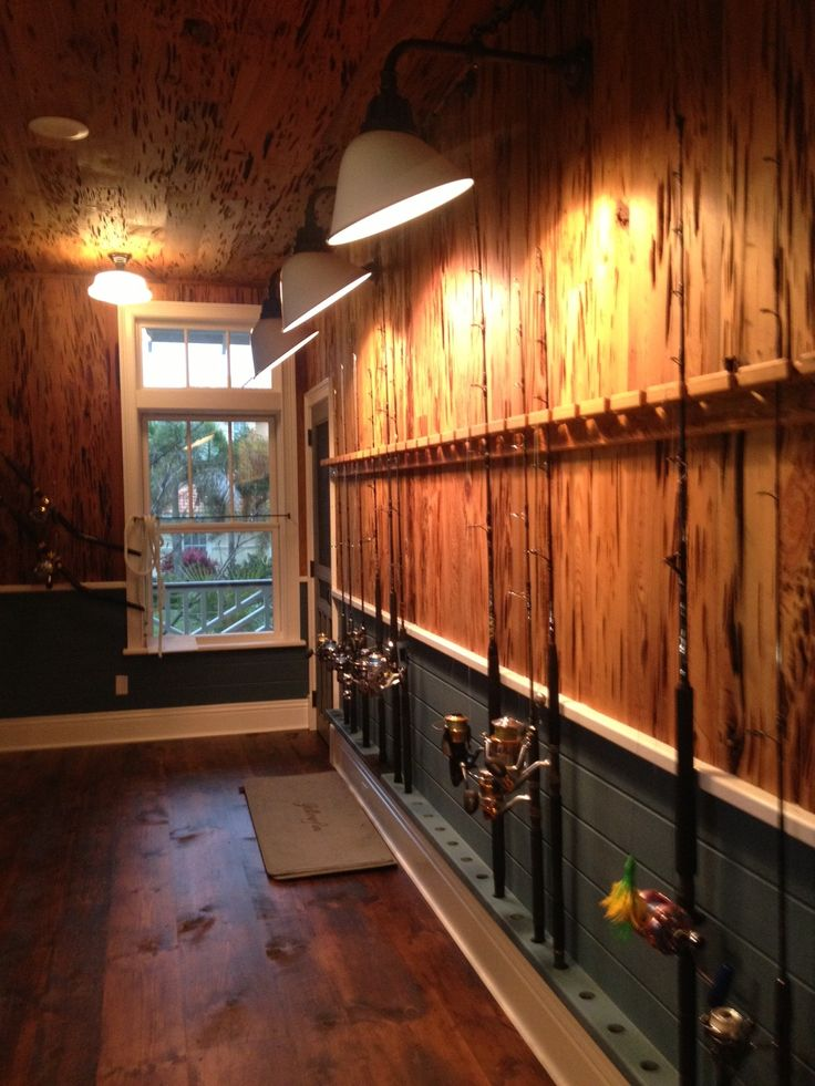 That's some sweet way to store fishing rods.
