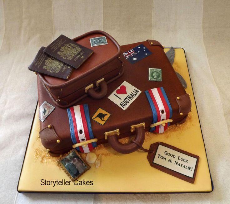 Off To Australia Suitcase Cake :) - Cake by Storyteller Cakes
