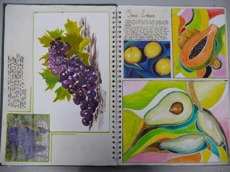 Food - sketchbook exemplar work