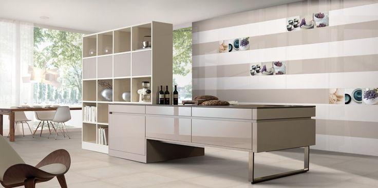Zdá se být koupelnovým obkladem, ale své místo si najde i v moderních kuchyních. Dekorace s motivy hrnečků, ovesných vloček levandule doplňují sérii Poeme 25×75 cm. www.mbkeramika.cz