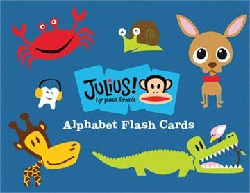 Julius! By Paul Frank Alphabet Flash Cards  These would be so cute in a boy's nursery!