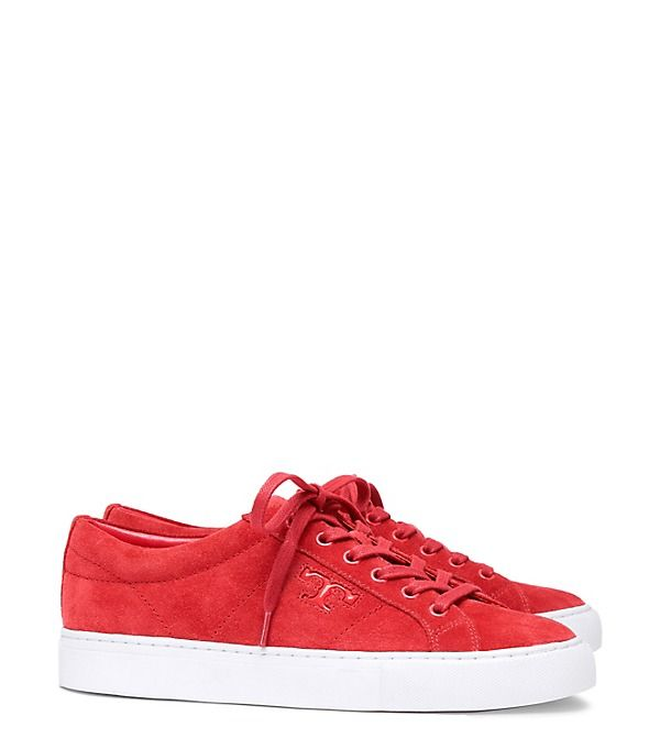 Tory Burch Chace Suede Lace-up Sneaker