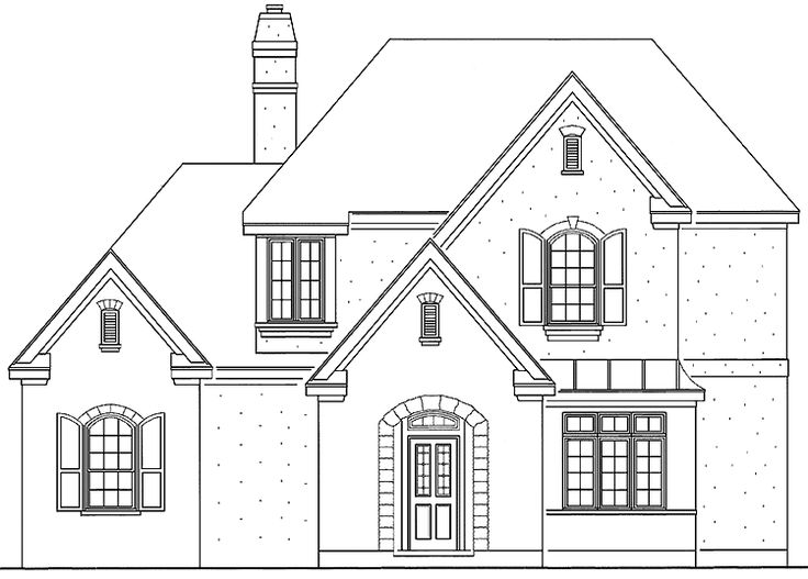 Floor Plan AFLFPW23311 - 2 Story Home Design with 3 BRs and 3 Baths