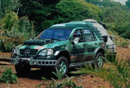 1997 Mercedes Benz ML 320 (W163) as seen in 1997's The Lost World: Jurassic Park 2.