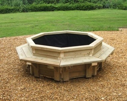 Planter Seating - Seating for Playgrounds - Rest a while and share a little time!