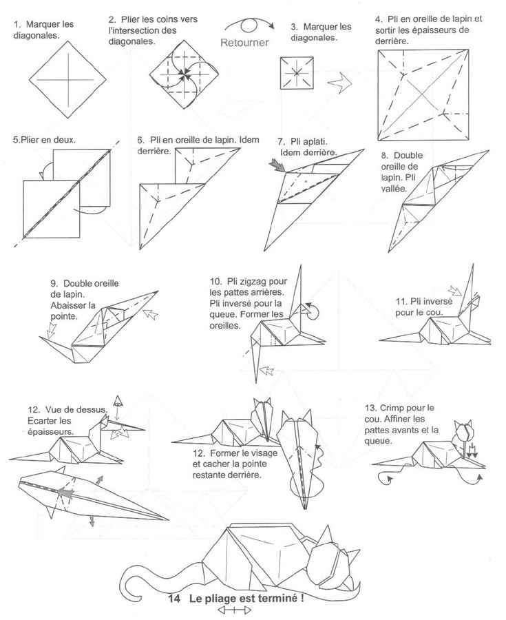 ORIGAMI FOR ALL S: CAT LYING