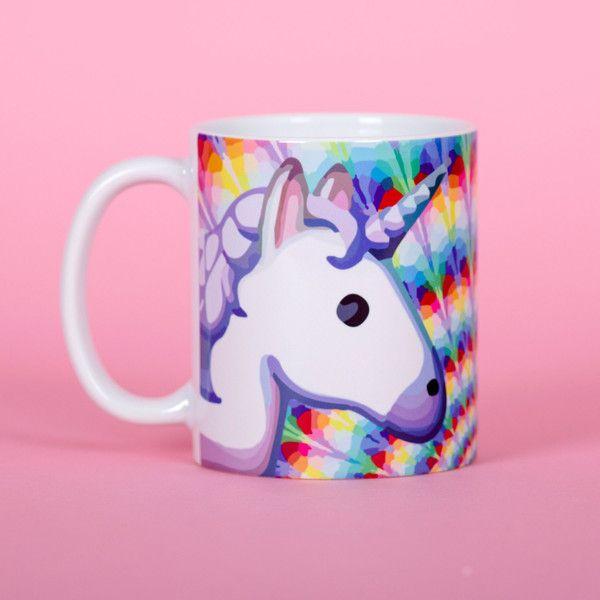Rainbow Unicorn Emoji Mug Funny Mug Rude Mug Mug Cup 4p034c ($13) ❤ liked on Polyvore featuring home, kitchen & dining, drinkware, drink & barware, home & living, mugs, silver, emoji mug, rainbow unicorn mug and unicorn cups