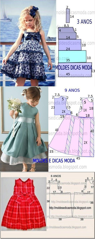 Molde vestido de niña                                                                                                                                                                                 Más