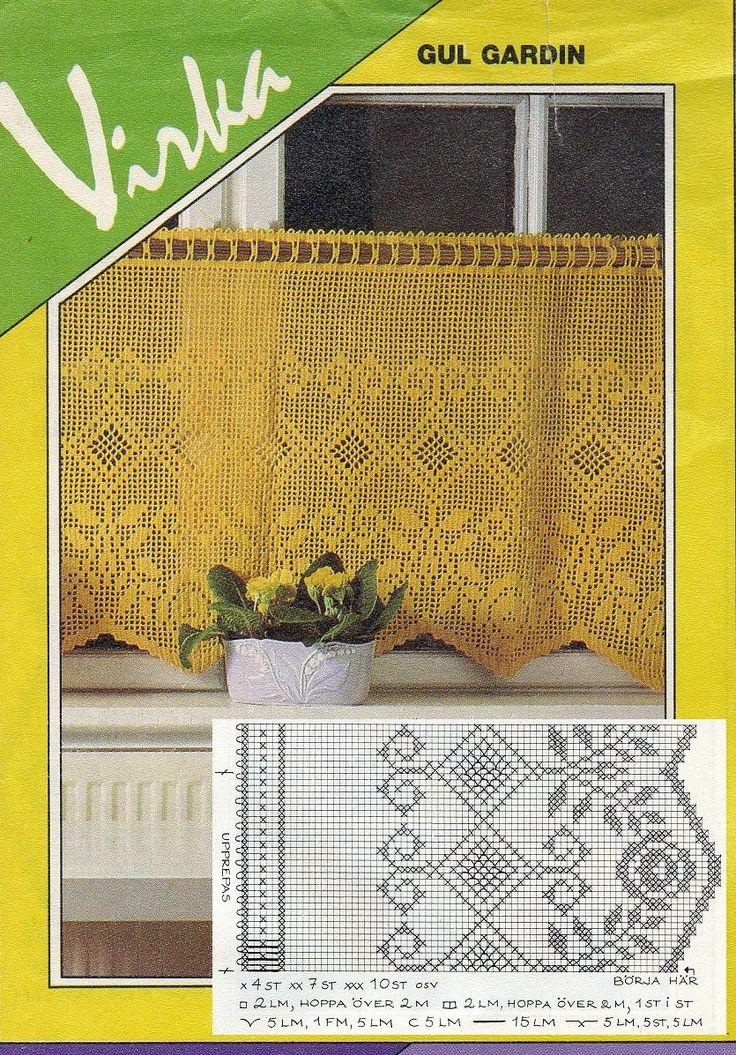 Crochet Filet Valance / Curtains pattern
