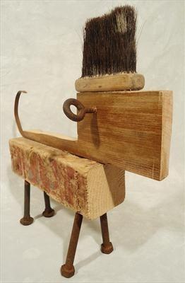 Rough! haha! Dog -ish robot wood sculpture