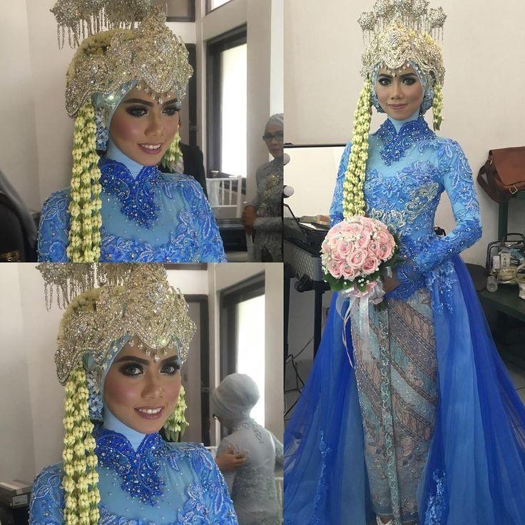 #makeup #pengantin #resepsi #hijab #sundasiger #kebaya #newcollection #blue…